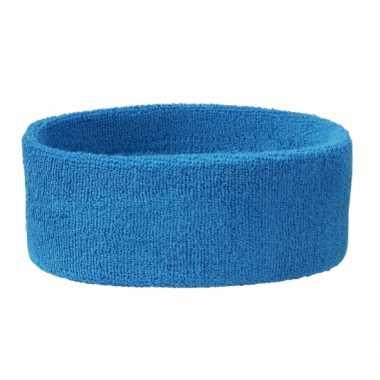 Aqua blauw gekleurde hoofd zweetbandjes