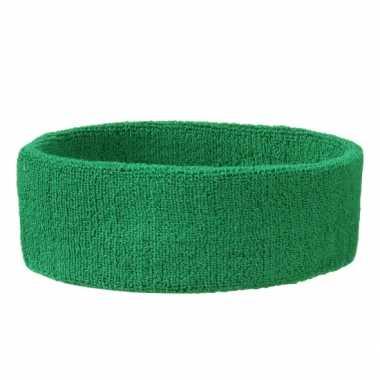 Groene hoofd zweetbandjes