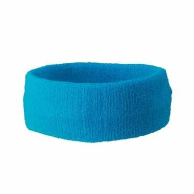 Turquoise gekleurde hoofd zweetbandjes