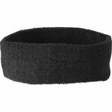 Zwarte hoofd zweetbandjes